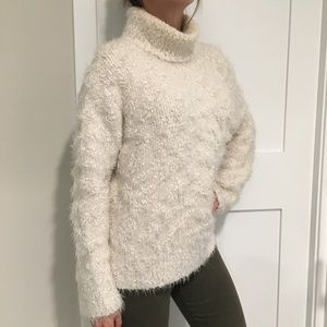Zara white turtleneck sweater